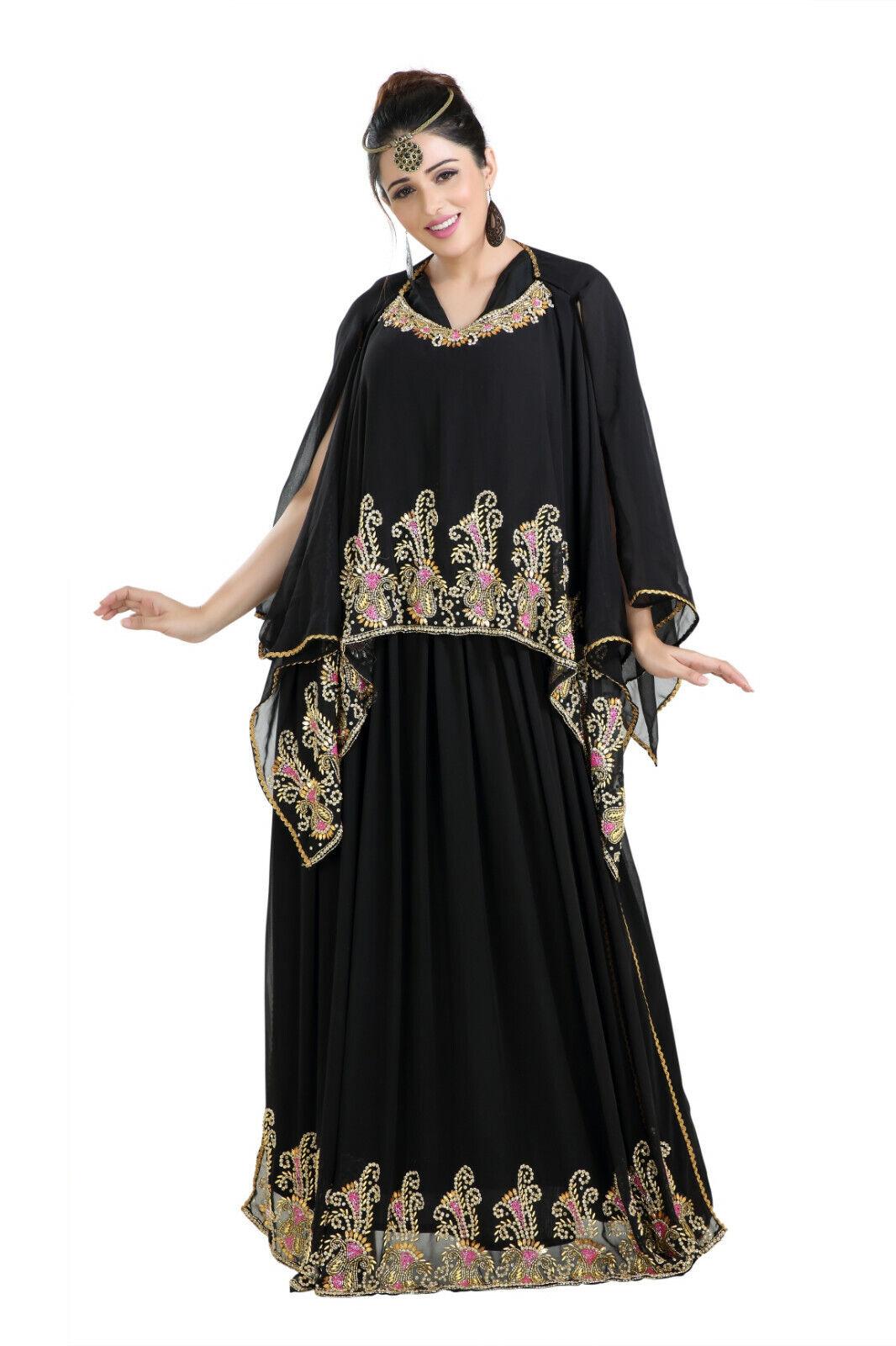 COMFORTABLE DUBAI FARASHA RHINESTONE CUSTOMIZED LADIES IRANIAN MAXI DRESS 8167