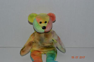 Ty Beanie Baby~ 4051~Garcia The Bear~4th Generation~NO Heart Tag~AA ... 7f2dd934ed7