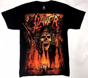 Slayer-WEHRMACHT-BURNING-T-Shirt-NWT-100-Authentic-S-4XL-Front-amp-Back-Design