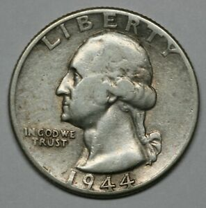 1944 Washington Quarter 90/% Silver BU US Coin