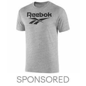 Reebok Men's Graphic Series Stacked Tee