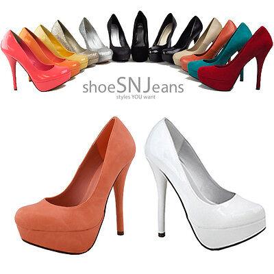 Women Party Prom Dress Pump High Heel Platform Stiletto Shoes Delicious Jones