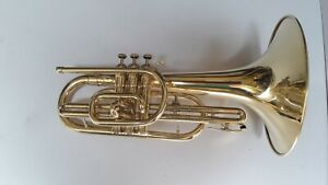 CHRISTMAS-SALE-MARCHING-MELLOPHONE-BRASS-FINISH-WITH-HARD-CASE-MOUTHPIECE