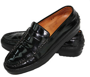 c90297681b3 TOD'S Gommino Women's Black Patent Leather Loafers Flats Driving ...