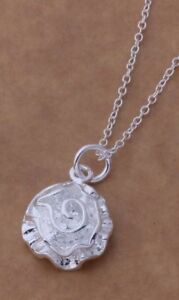 Kette-mit-Anhaenger-Rose-925er-Sterling-Silber-plattiert-Kette-46-cm-lang