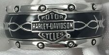Franklin Mint Harley Davidson Rumble Roll Sterling Silver Ring Size 9 Mens 84v3