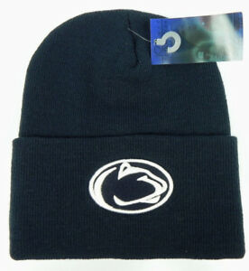 2530d9cc PENN STATE ST. NITTANY LIONS NAVY NCAA BEANIE TOP OF THE WORLD KNIT ...