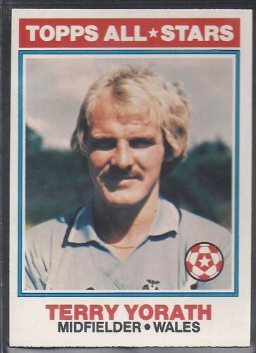 -#141- COVENTRY TOPPS-FOOTBALL ORANGE BACK 1978 TERRY YORATH