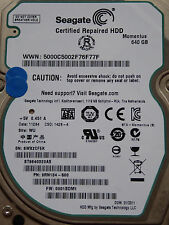 Seagate ST9640320AS | SN: 5WX | 9RN134-500 | 0001SDM1 | WU - 640 GB hard disk