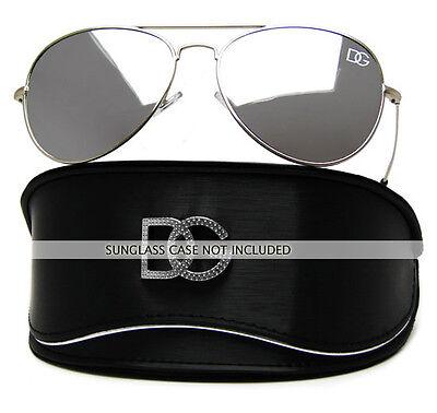 DG Designer Fashion Eyewear SILVER MIRRORED Aviator Sunglasses Mirror Lens DG501