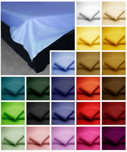 Poly-Cotton-Flat-Bed-Sheets-Plain-Dyed-Colours