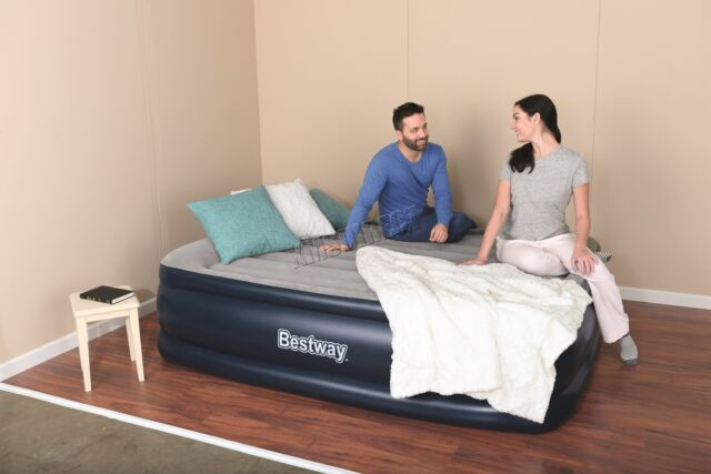 320dfbea6659 BestWay Queen size Inflatable Night Right Raised Air Bed With Built-In Pump  New