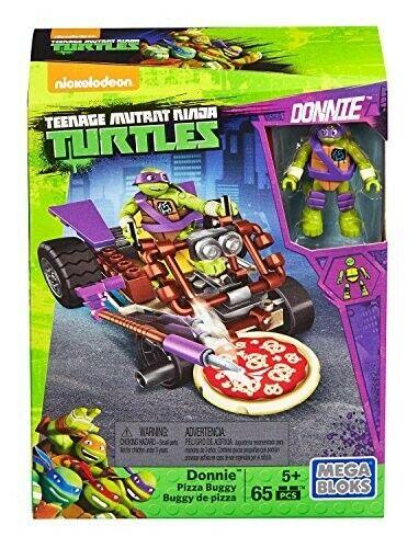 Mega Bloks Tartarughe Ninja Donnie Pizza Buggy Mega