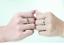 Anello-Coppia-Fedine-Fidanzamento-Amicizia-Amore-Cuore-spezzato-Love-Idea-Regalo miniatura 7