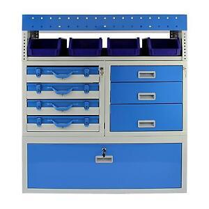 Image is loading Van-Racking-Metal-Shelving-Steel-Rack-Tool-Storage-  sc 1 st  eBay & Van Racking Metal Shelving Steel Rack Tool Storage System Lockable ...