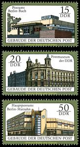 EBS-East-Germany-DDR-1988-Deutsche-Post-buildings-Michel-3145-3147-MNH