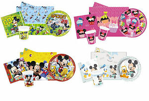 Disney-MICKEY-MOUSE-Birthday-PARTY-PACKS-Plates-Cups-Napkins-Tablecover