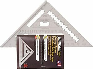 """JOHNSON 7"""" RAFTER SQUARE speed roofing square With Book made in USA RAS-1"""