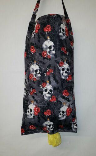 Skulls Webs /& Roses Plastic Grocery Shopping Bag Holder