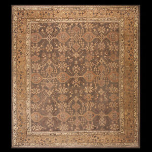 Antique Oushak Rug 13 4 X 14 9 Ebay