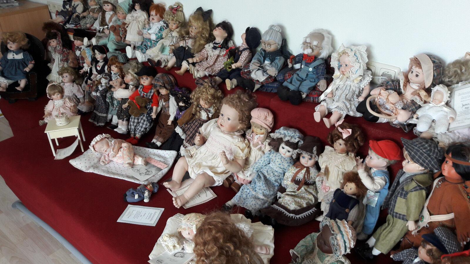 rotUZIERT   Riesige seltene Sammlung mit ca.50 Künstlerpuppe Künstlerpuppe Künstlerpuppe und viel Zubehör 86a398
