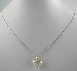 reizende-925er-Silber-Halskette-amp-Anhaenger-Sterlingsilber-Herz-Vintage-5-10g