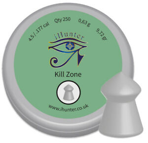 iHunter-Kill-Zone-Premium-Spiked-177-4-5mm-Air-Gun-Pellets-Qty-250-free-P-amp-P