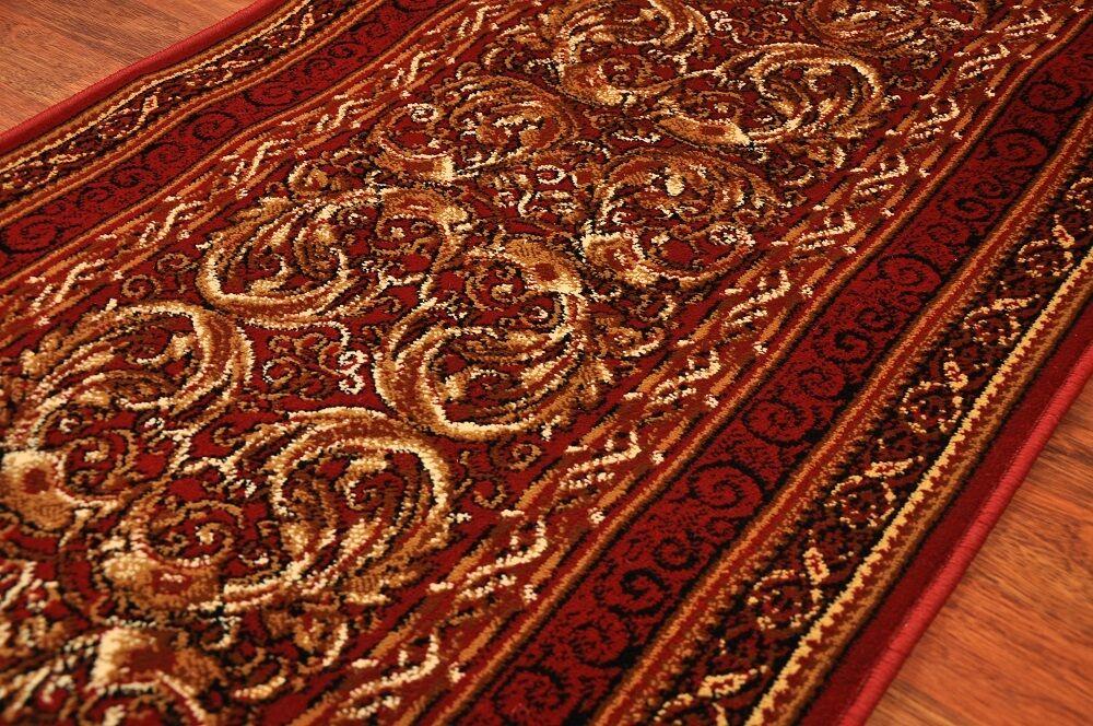 Läufer Teppichläufer Standard Aralia Aralia Aralia Rotwein breite 70,80,100,120 cm meterware | Viele Stile  29cffe