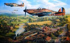 TRUDGIAN Tangmere Hurricanes RAF 604 Squadron AVIATION ART w/ROBERT TAYLOR Bonus