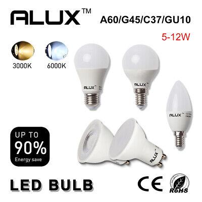 10X ALUX 6W LED C37 Candle Light Bulbs SES E14 Warm//Cool White