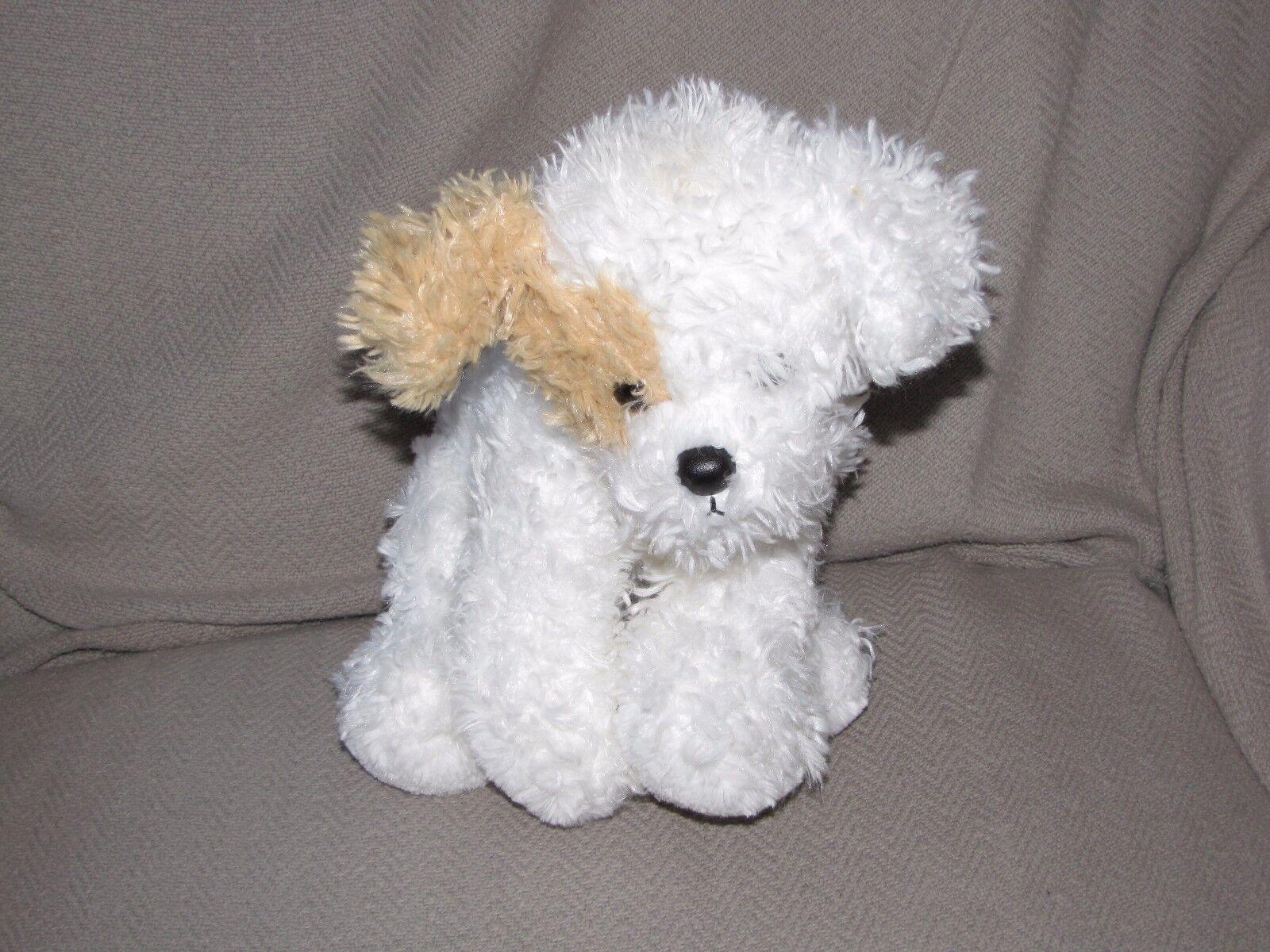 Dog Ty Classic 2006 Puppy TANDY 10 10 10  White with Tan ear & tail stuffed plush RARE dd68b4