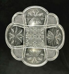 Antique-Cut-Glass-ABP-American-Brilliant-Period-Finely-Cut-9-034-Deep-Bowl