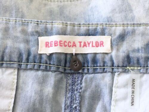 8 Bleach Rebecca Taglia Anthropologie Retro Wash Taylor per Shorts zz8OZ