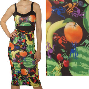 WIGGLE-PENCIL-FRUIT-WITH-ANTS-DRESS-SIZE-8-16-ROCKABILLY-GOTH-ALTERNATIVE