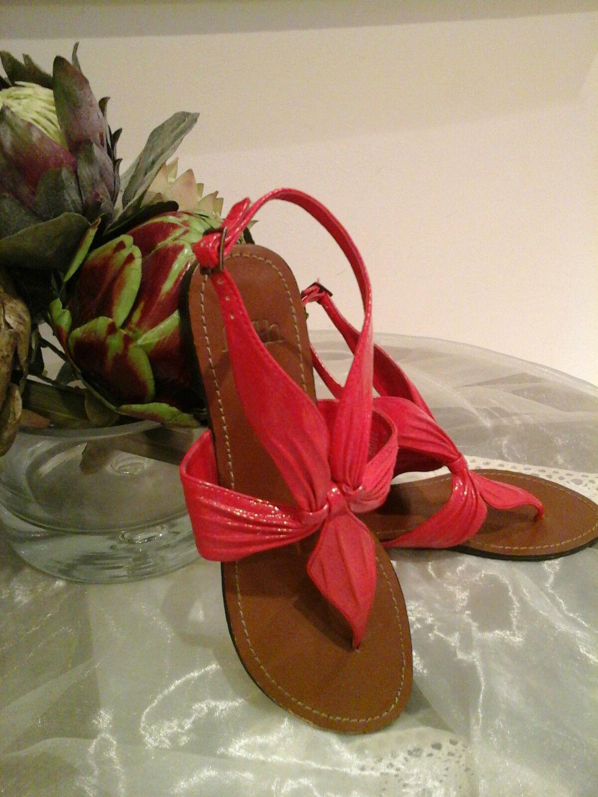 Genuine Cuero Rojo Fe  magnífico sandles Zapatos Zapatos Zapatos  Talla 5 Perfecto  Imperdible  punto de venta