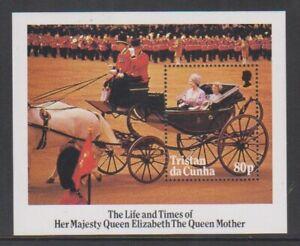 Tristan da Cunha - 1985, Life & Times of Queen Mother sheet - MNH - SG MS394
