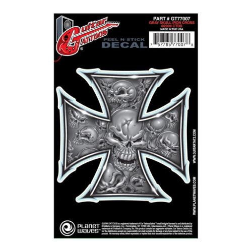 Planet Waves Guitar Tattoo Iron Cross Design