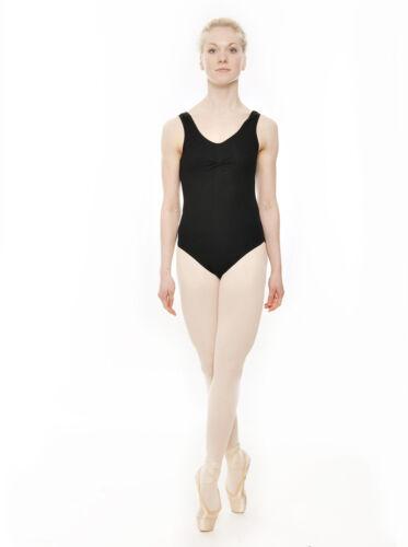 All Colours RAD ISTD Sleeveless Ruche Cotton Ballet Dance Leotard KDC038 Katz
