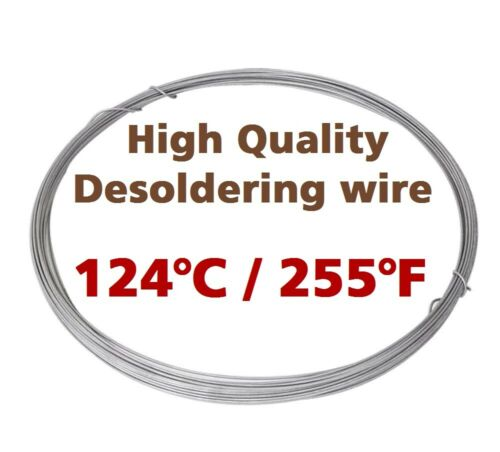 Low Melting Point 124°C//255°F Soldering Wire 1mm 1m//3.3ft Without Flux by Chemet