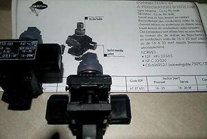 2 Connecteurs dérivation sous tension edf TTD101 FJ2T de 16-25 à 16-35 mm carrés