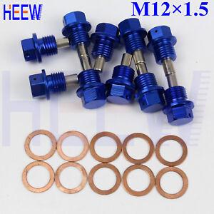 2 Pieces Magnetic Engine Oil Pan Drain Screw W Gasket M12x1.5