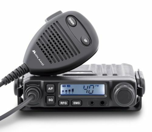 CRT Millenium AM FM UK / European norms ultra compact 80 channel mobile CB Radio