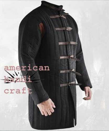 Medieval thick padded Gambeson coat Aketon vest Jacket Armor COSTUMES DRESS