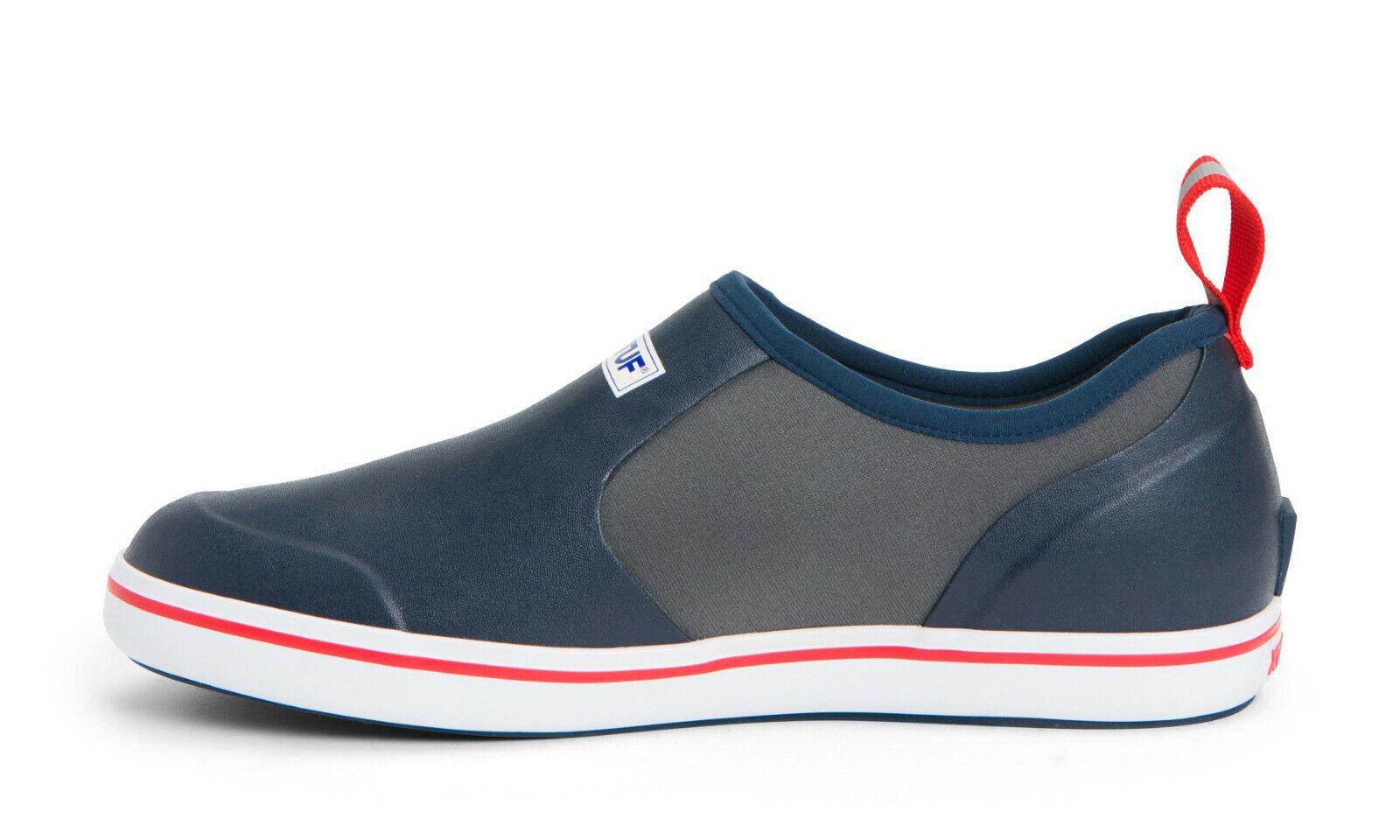 XTRATUF para hombres Calzado Sin Cordones Cubierta Impermeable (Azul marino)
