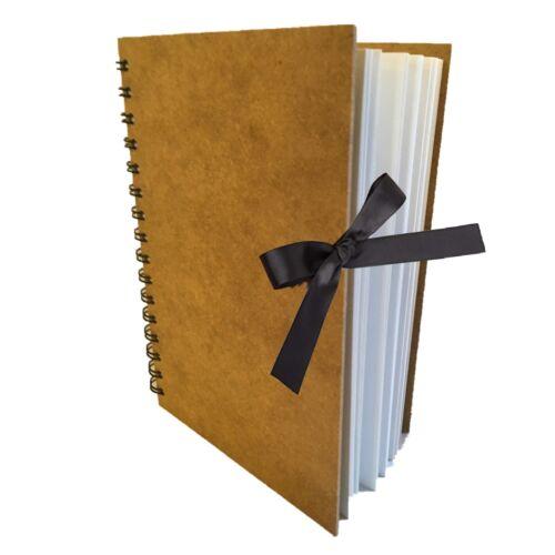 Eco-Arts personnalisé carnet de croquis Pad Scrapbook cartonnée wirobound Blanc Mariage
