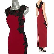 KAREN MILLEN Stunning Velvet Floral Applique Maxi Party Dress UK10 BNWT RRP £350