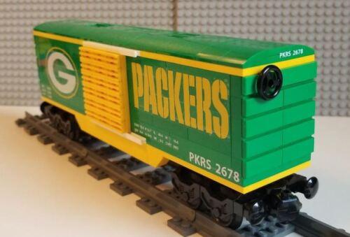 Lego Train Boxcar Green Bay Packers PLEASE READ ITEM DESCRIPTION