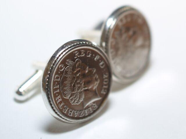 Wedding Anniversary Cufflinks. Tin Steel Bronze Copper Crystal