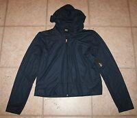 Bcg Womens Xl Hooded Ls Zip Front Navy Mesh Jacket