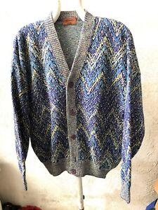 Missoni-Cardigan-Sweater-Gumper-Maglione-Pullover-Multicolor-90s-News-Tg-50